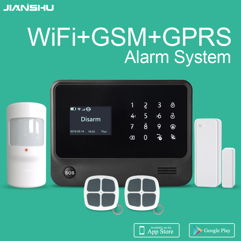 Free shipping from Spain gsm wifi home security alarm system mobile APP control gsm wifi alarm Ifttt smart alarm