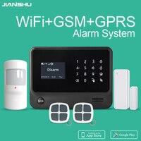 Gratis verzending van Spanje gsm wifi alarmsysteem mobiele APP controle gsm wifi alarm Ifttt smart alarm-in Alarm Systeemkits van Veiligheid en bescherming op