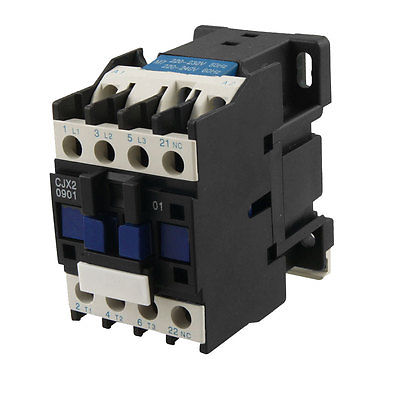 CJX2-0901 AC Contactor 9A 3 Phase 3-Pole NC 220V 50/60Hz Coil sayoon dc 12v contactor czwt150a contactor with switching phase small volume large load capacity long service life