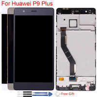 Display originale Per Huawei P9 Più Cornice del PANNELLO LCD Touch Screen Digitizer Assembly Per Huawei P9 Plus Screen EVA L09 L19 VIE L09 AL10