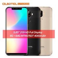 OUKITEL U18 5.85 21:9 HD Full Display Mobile Phone 4G RAM 64G ROM MTK6750T Octa Core Android 7.0 4000mAh Fingerprint Smartphone