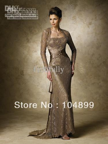 Wholesale - New Sheath fashion lace blush train Mother of the Bride Dresses all color all size custom made
