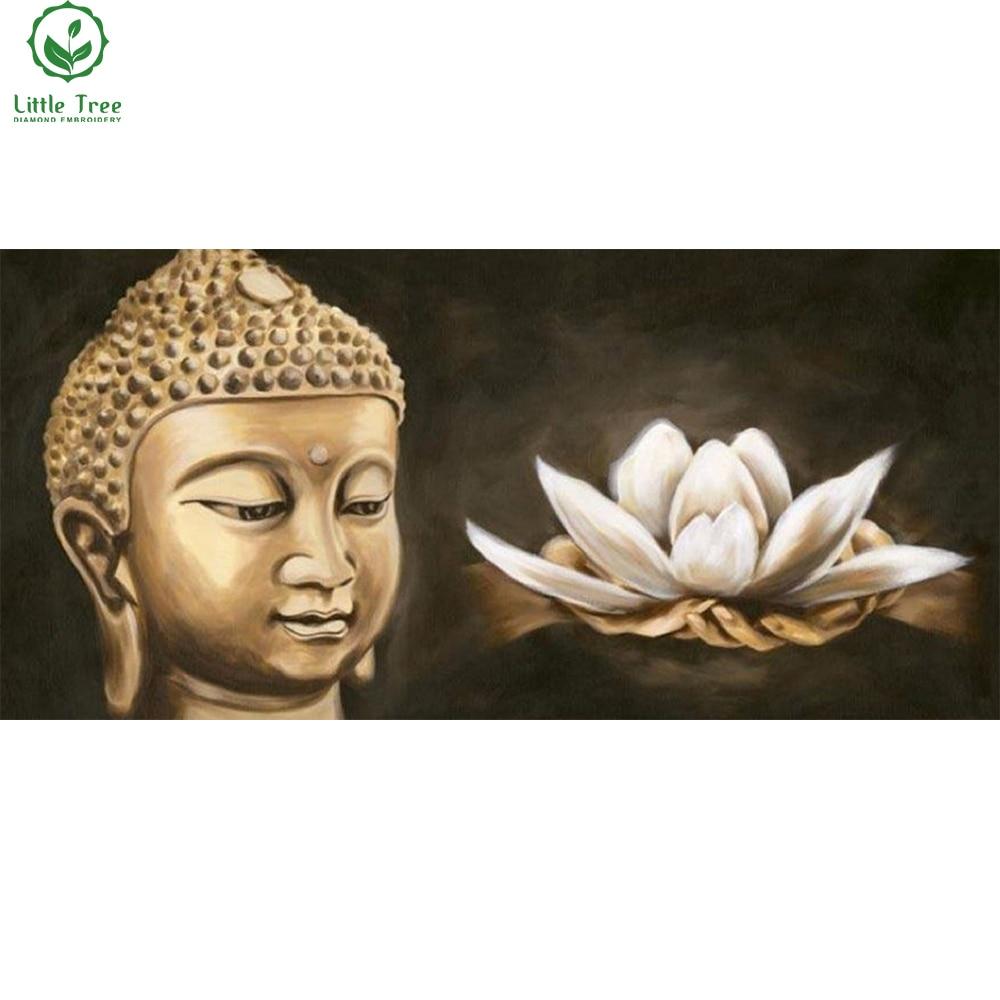 resin square mosaic 5d diamond painting Buddha white Lotus handmade crystal needlework rhinestone embroidery diy wall painting