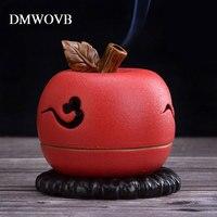 appleIncense Sticks Coil Holder Base Plug Incense Burner Sandalwood Cones Ornaments Porcelain Lying Censer Aroma Stove Give Gift