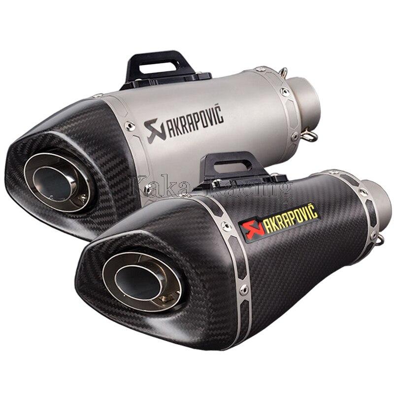 Entrée 51mm Akrapovic moto cycle d'échappement silencieux tuyau d'échappement moto pour S1000RR S1000R CBR650F CBR500 GSR750 GSXR1000 Z900 Z1000