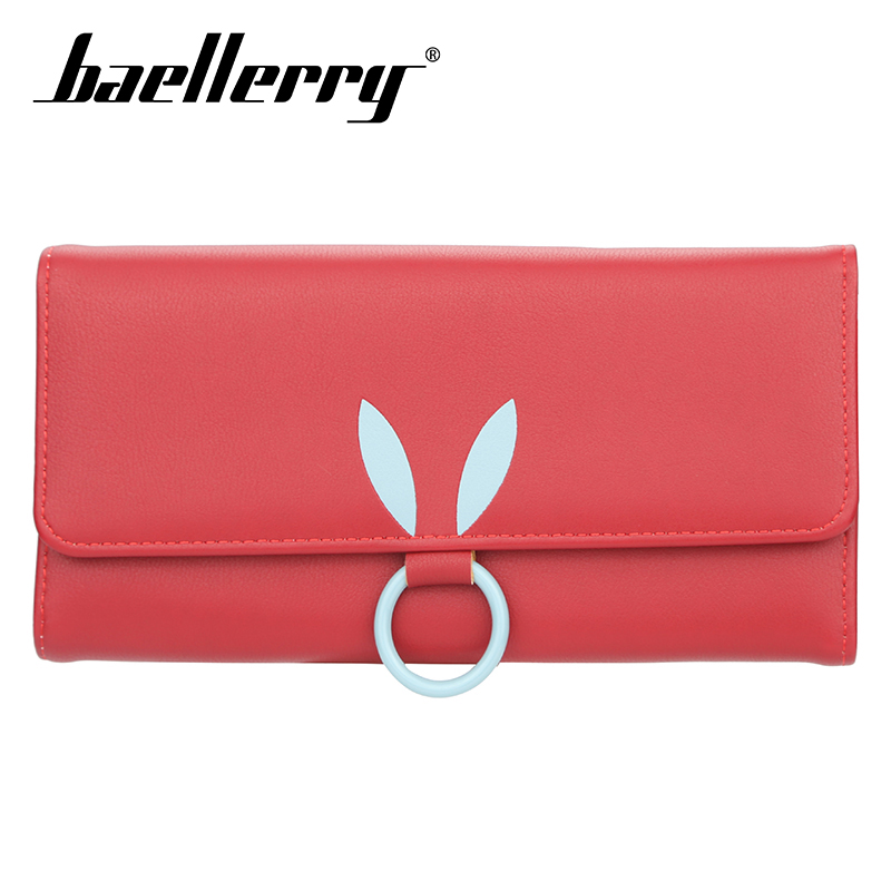 Baellerry Women Rabbit Ear Solid Long Wallet PU Leather Hasp Lady Wallet Coin Pocket Card Holder Photo Holder Wallet Casual in Wallets from Luggage Bags