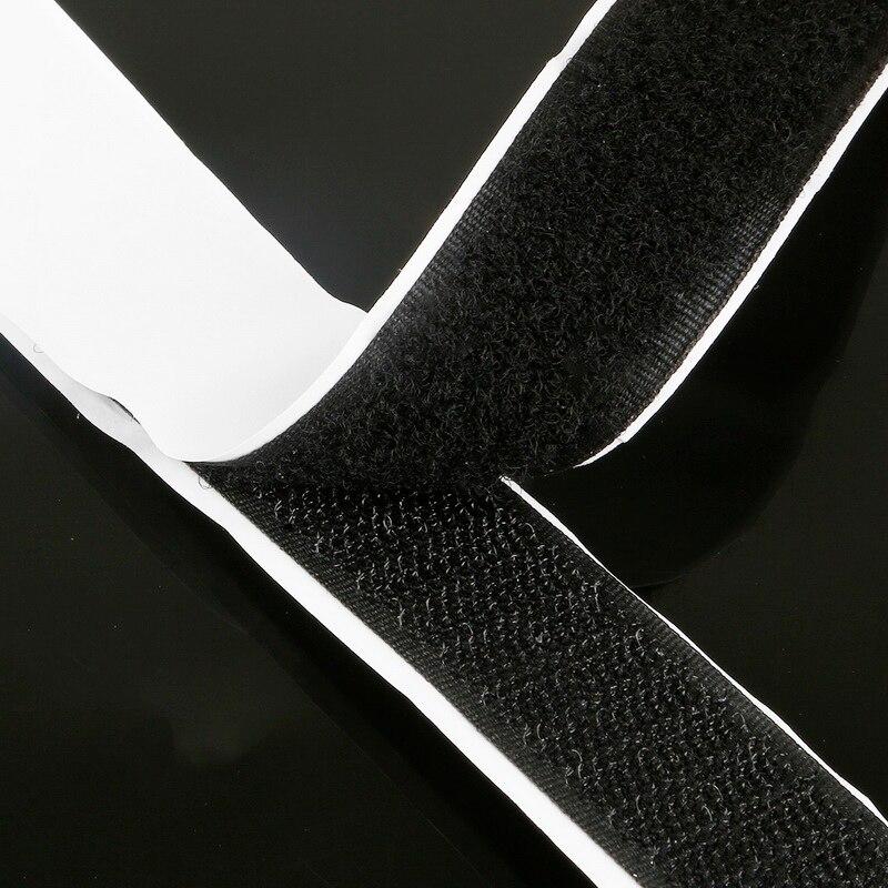 25MM Cinta de gancho y ojo de Encaje Negro o Blanco de Algodón de 1 metros de cinta de buena calidad