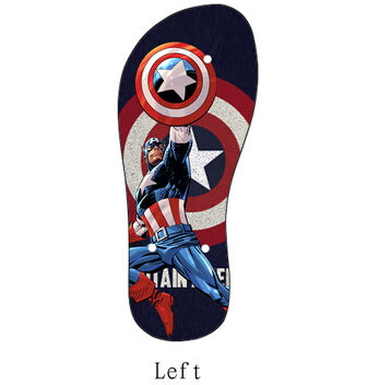 6b8b3d3af9a3 2015 New DIY Captain America Cartoon Sandal Beach Slipper Summer PVC Flip  Flops For both Men and Women-in Women s Sandals from Shoes on  Aliexpress.com ...