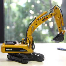 New 50 large excavator childrens alloy car model engineering boy  Bulldozer Road Roller Excavator Car Toy