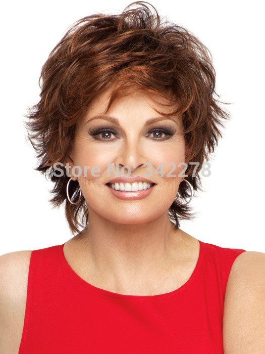HOT Pixie Cut Hairstyle Synthetic Wigs Short Wavy Hair ...