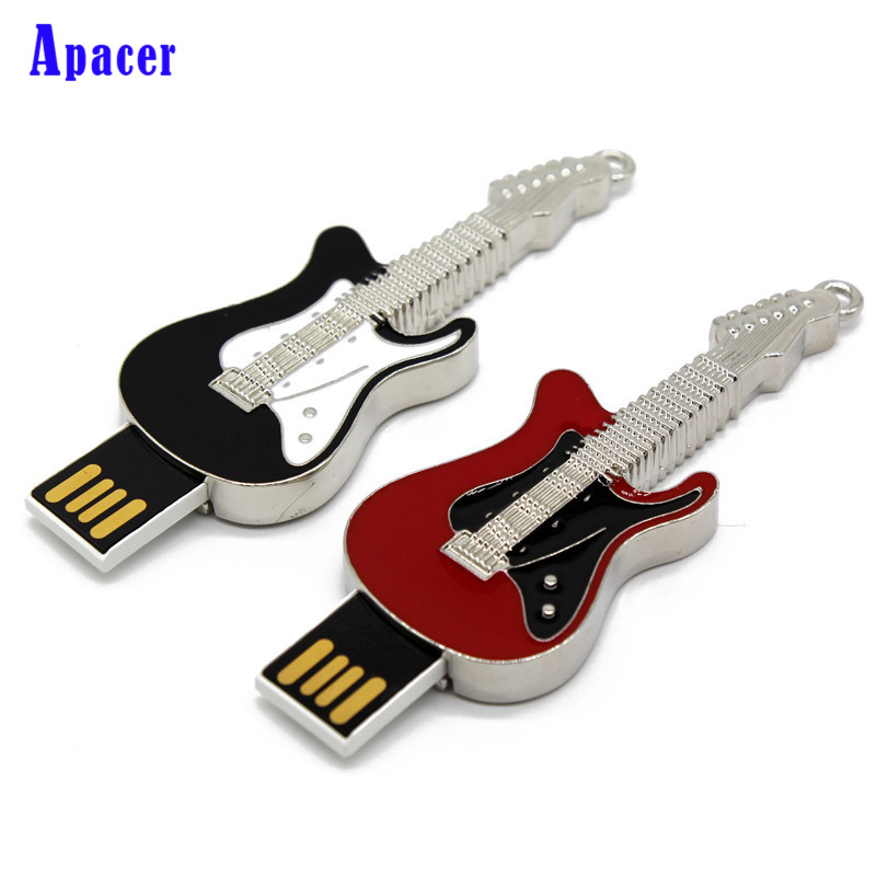 Apacer Metal 3 Colour guitar style pendrive usb 2.0 4G 8G 16G Pen Drive Memory creative 32GB usb flash drive ...