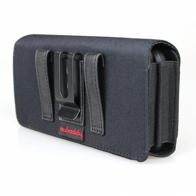 Dual Phone Holster for Two Phones Nylon Double Decker Belt Clip Pouch Case for 2 iPhone Xs Max Samsung Note 9 Huawei Mate 20