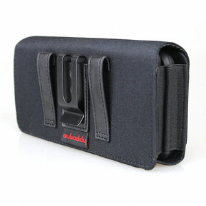Image 2 - Dual Phone Holster for Two Phones Nylon Double Decker Belt Clip Pouch Case for 2 iPhone Xs Max Samsung Note 9 Huawei Mate 20