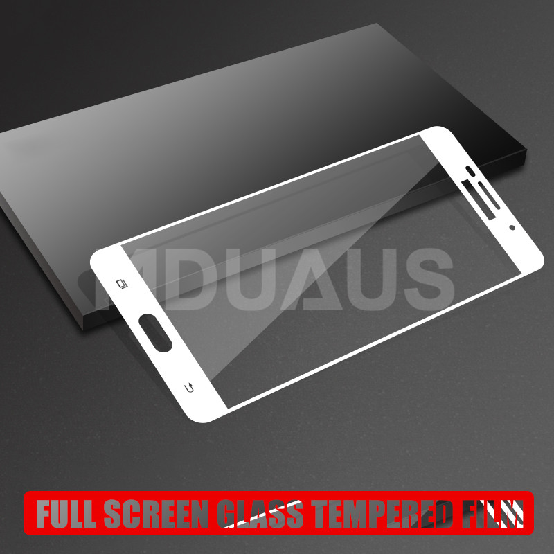 9D Full Cover Tempered Glass on the For Samsung Galaxy J3 J5 J7 A3 A5 A7 2016 2017 S7 Screen Protective Glass Protective Film