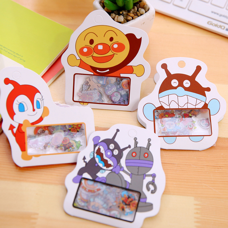 50pc/pack Anpanman Bacterial Boy DIY Stickers Kids Cartoon Transparent Waterproof Sticker Diary Album PDA Package Decorative ...