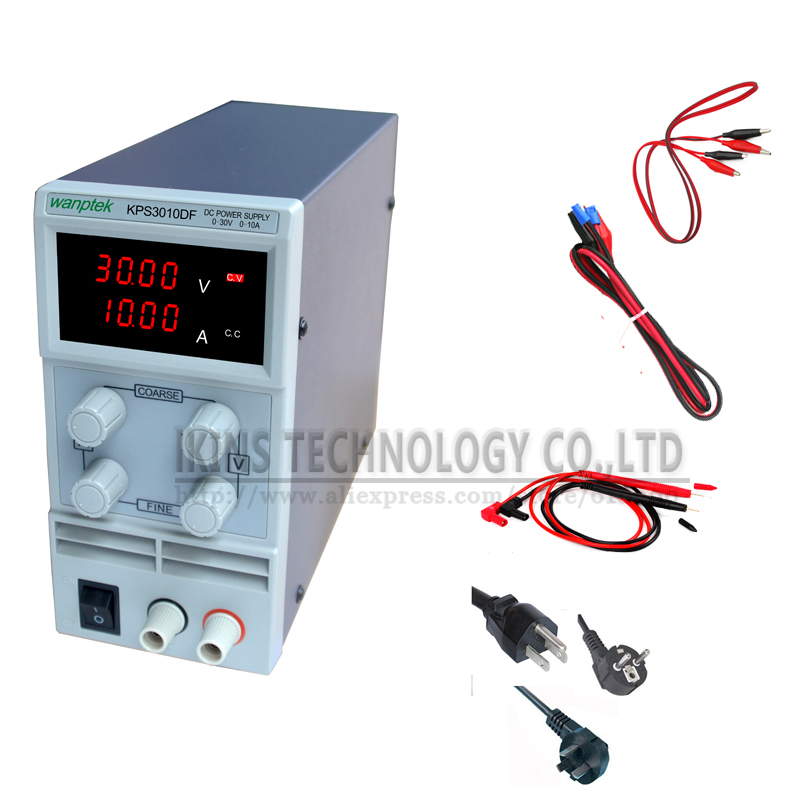 KPS3010DF 0-30V/0-10A 110V-230V 0.1V/0.001A EU LED Digital Adjustable Switch DC Power Supply mA display полуприцеп маз 975800 3010 2012 г в