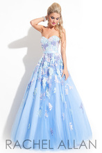 2016 New Arrival Charming Lace Applique Light Blue Tulle Sweetheart Ball Gown Floor Length Formal Long Prom Dresses For Wedding