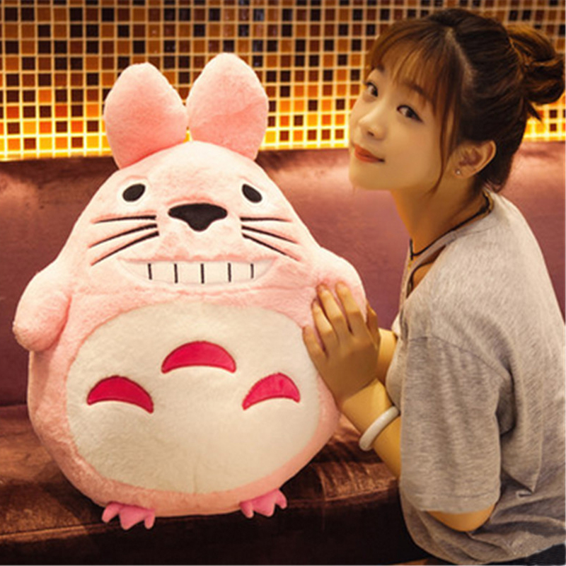 Fancytrader Giant Pop Anime Totoro Plush Toy 70cm Big Stuffed Soft Animals Cat Doll Nice Gifts for Children fancytrader giant soft bunny plush toy big anime stuffed rabbit toys doll pink blue 110cm for children birthday christmas gifts