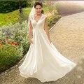 Бохо материнства плюс размер свадебное платье в стиле кантри с открытой спиной сексуальное с v-образным вырезом Свадебные платья для Pregant же...