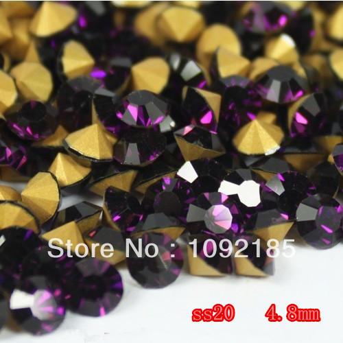 1,440 unids SS20 ( 4.6 mm - 4.8 mm ) señaló hacia piedras amatista Color envío gratis