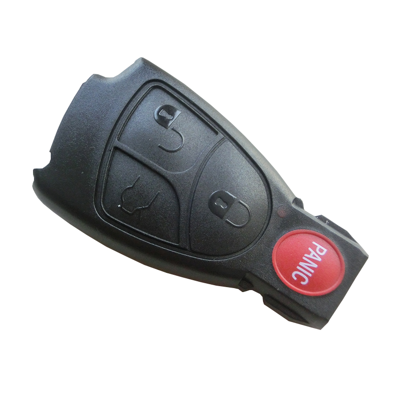 3+1 Panic Buttons Car Replacement Smart Key Remote Keyless Entry Fob Case Shell For Mercedes Benz E C R CL GL SL CLK SLK