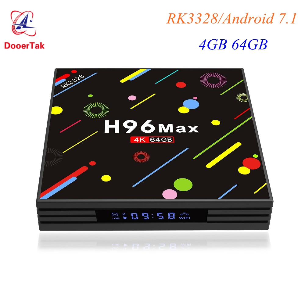 H96 MAX H2 LED Screen Android 7 1 Smart TV Box RK3328 Quad Core 4GB 64GB