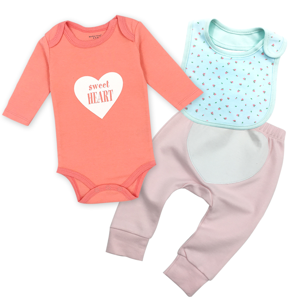 Baby Bodysuits And Baby Pants Suit O-neck Long Sleeved Clothing Girl Bibs Child Garment Toddler Underwear Pant Infant Clothes