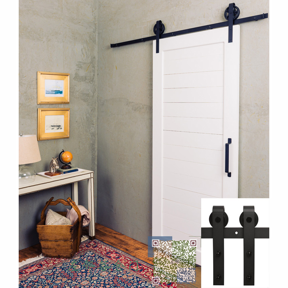 Free Shipping 6ft American Barn Style Interior Door Installed Top
