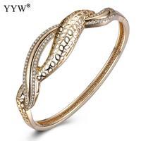 Hollow DIY Bracelets Gold Snake Chain Bracelet Crystal Rhinestone Bracelet Safety Valentine S Day Gift For