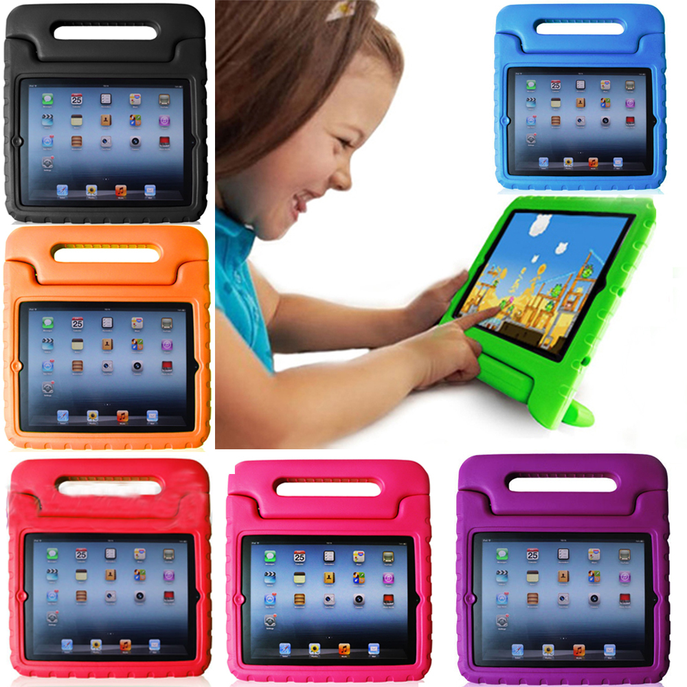 Kids Friendly Rugged Proof Non-toxic Safe Foam Back Case Protective Cover Handle Stand iPad Mini - Favorbest store