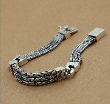 Bracelets d'amitié pour hommes bracelet bouddha en argent sterling 925