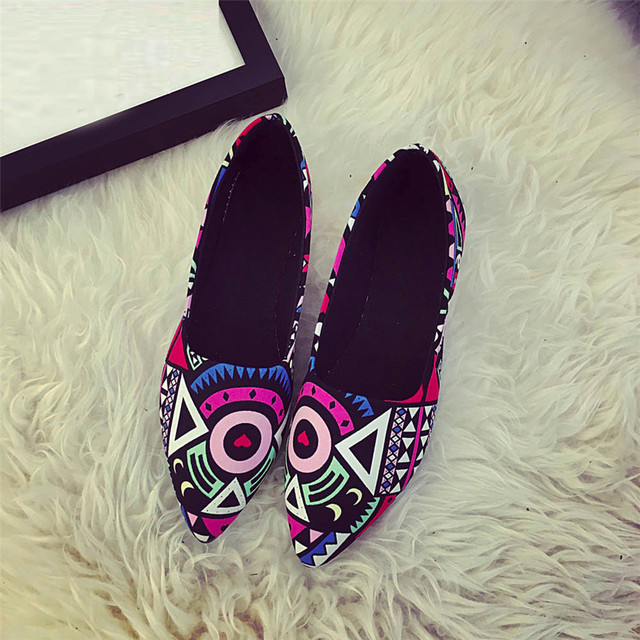 Fashion Women Spring Autumn Casual  Multicolor All Seasons Ballet Slip On Flats Loafers Shoes zapatos mujer sapato feminino