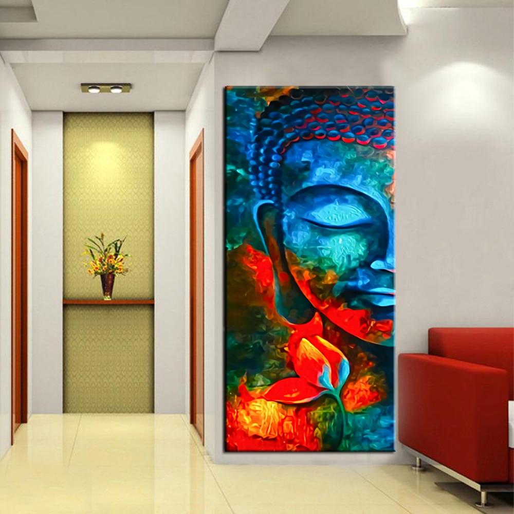 Modern Pop Buddha Wall Art Canvas Posters Prints Bright