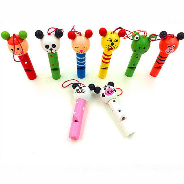 Set of 8 Animal Style Whistles