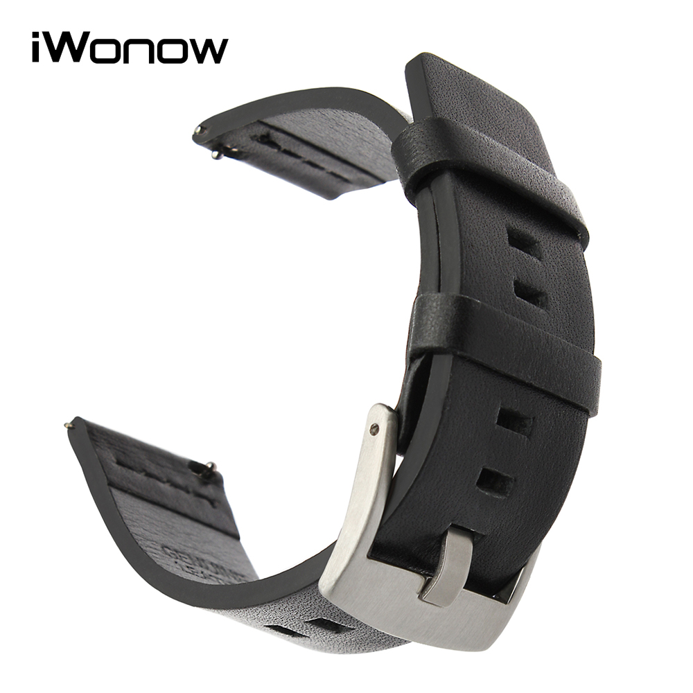 24mm Italian Oil Leather Watchband Tool for Sony Smartwatch 2 SW2 Suunto TRAVERSE Watch Band Quick