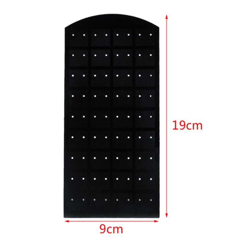 36 Pair 72 Holes Earrings Display Stand Fashion Black Plastic Jewelry Earrings Holder Cases Jewelry Display Tool Earring Rack in Jewelry Packaging Display from Jewelry Accessories