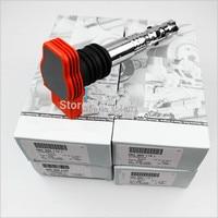 4 pces ajustados com as bobinas vermelhas da ignição da caixa do oem cabidas para o turbo 1.8 2001 06c 2005 905 l m e f g h/06c905115 de audi a4 115 t|coil audi|coil ignitioncoil set -