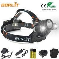 Boruit Linternas 4000LM XML T6 LED Headlight Linterna Frontal Miner Work White Light Headlamp Flashlight 4