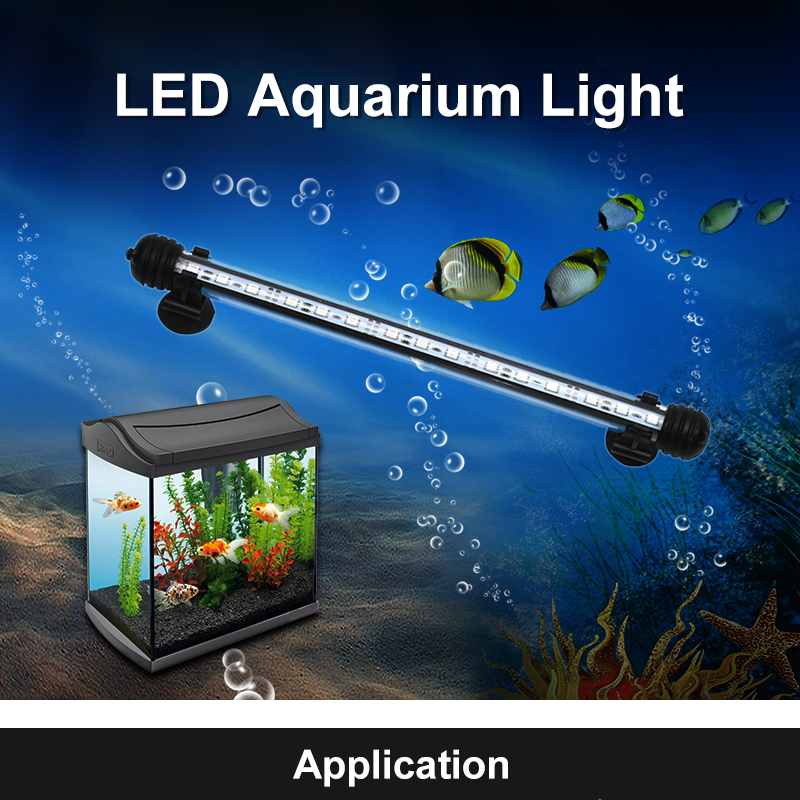 110V 220V LED Aquarium Light RGB Waterproof 30CM 50CM White & Blue Fish Tank Pool Submersible Underwater Lights Air Bubble Lamp 18cm 30cm aquarium led strip bar light tube 1w 2 4w waterproof submersible fish tank lamp smd5050 white blue decor lighting