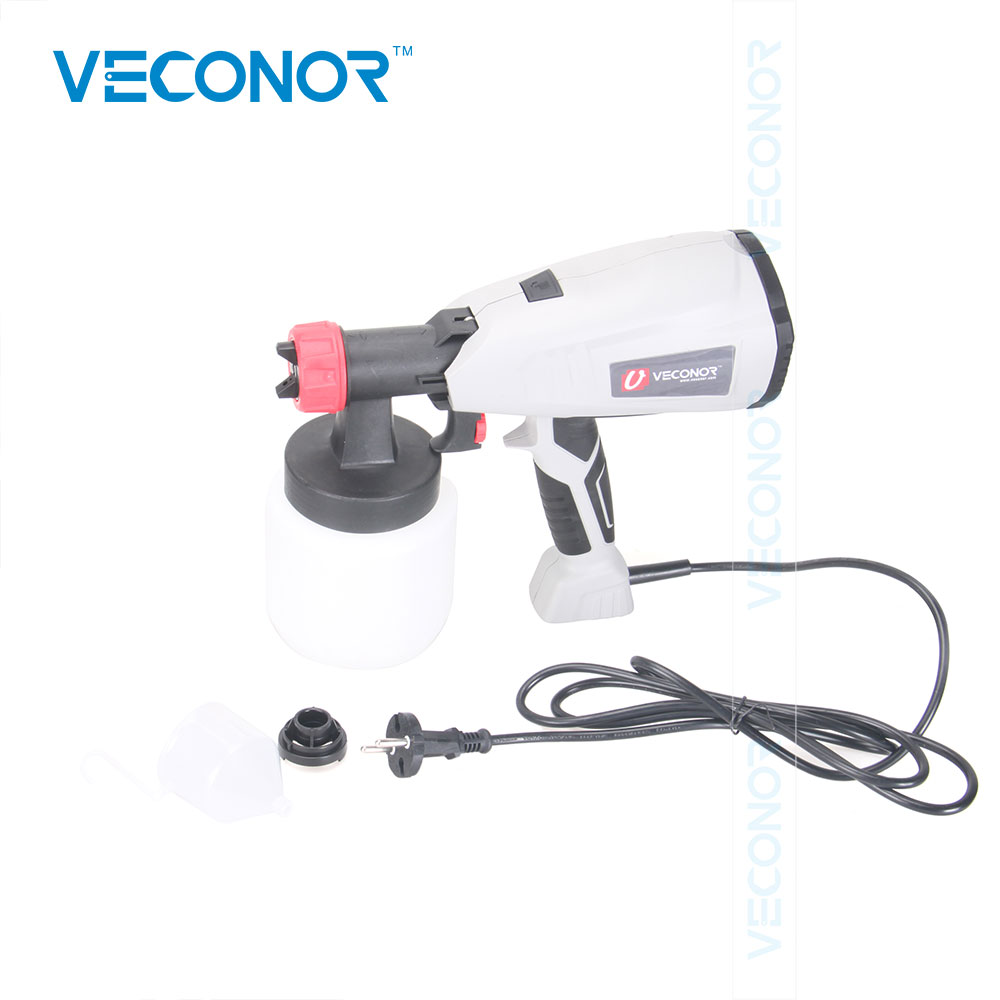 Veconor Paint Sprayer Power Painter Household Practical Tool for Spray Painting HVLP Spray Gun For DIY Use Comfort Grip 800w electric painter spray gun 900ml latex paint sprayer 1 8m spray hose hvlp paint sprayers house painting machine power tools