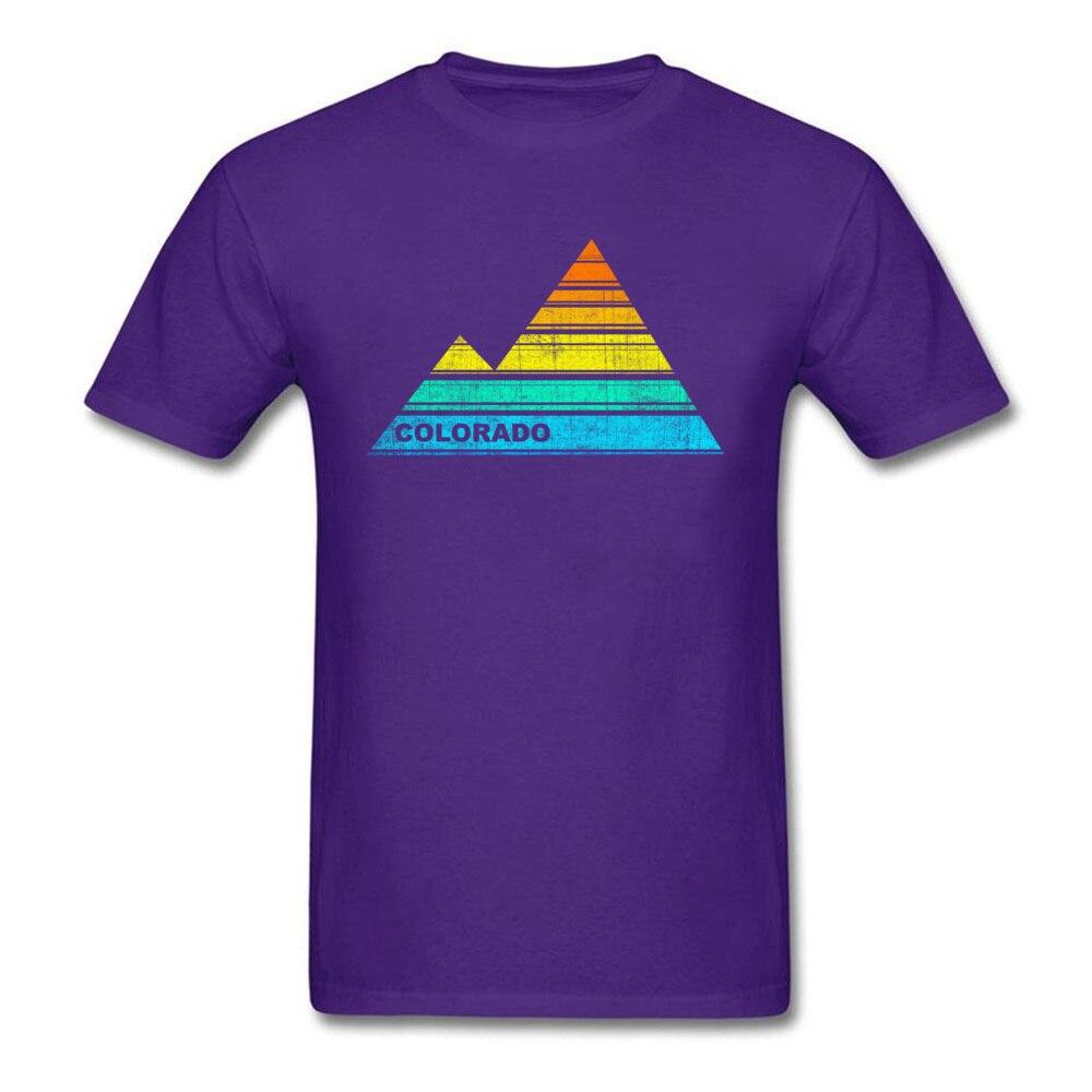 Tops Shirts retro colorado souvenir April FOOL DAY Cotton Fabric Round Collar Men T Shirts Casual Tops T Shirt 2018 Discount retro colorado souvenir purple