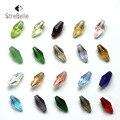 20 cores U Escolha 100 pcs 12*6mm Áustria Contas de Cristal charme Contas de Vidro Solto Spacer Bead para DIY Fazer Jóias