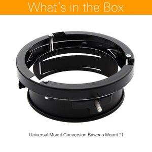 Image 2 - Monture universelle Godox pour Bowens, adaptateur de vitesse, Flash de Studio, stroboscope
