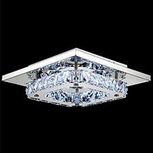 Modern White K9 crystal ceiling lamps LED lamps high-power living room crystal ceiling lamp led lustre light Ceiling Lights cheap ULMXI CN(Origin) 5-10square meters Foyer Bathroom Bed Room Study KİTCHEN Dining Room 90-260V Wedge Silver Stainless Steel