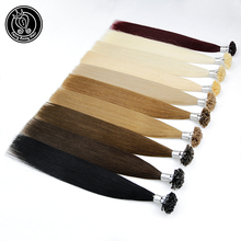 Fairy Remy Hair Fusion Hair Extensions 1g/s 18 Inch Remy Keratin Pre Bonded Human Hair Extension On the Keratin Capsule Nail Tip цены