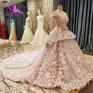 Image 4 - فستان AIJINGYU Isreal للإناث في حفلة القطار الطويل 2021 2020 أبيض جميل فساتين زفاف للعرائس الأكبر سنا