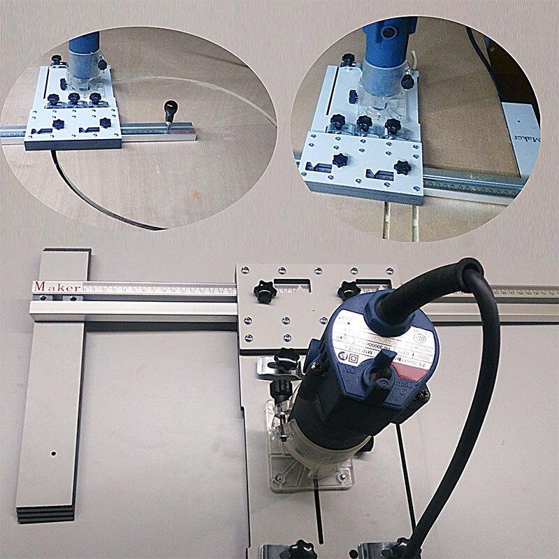 Bois artefact Pour L'électricité Scies Circulaires Tondeuse Machine Précise Guide Guide De Bord Positionnement planche À Découper outils