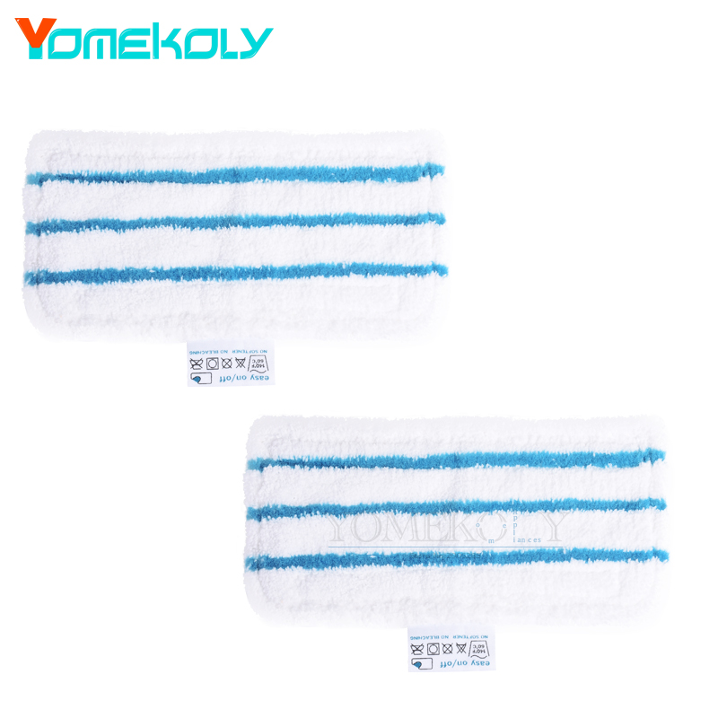 2pcs Microfiber Mop Pad for Black & Decker Steam Mop FSM1610 FSM1630 Washable and Reusable Replacement Mopping Cloth паровая швабра black decker fsm1630 fsm1630 qs