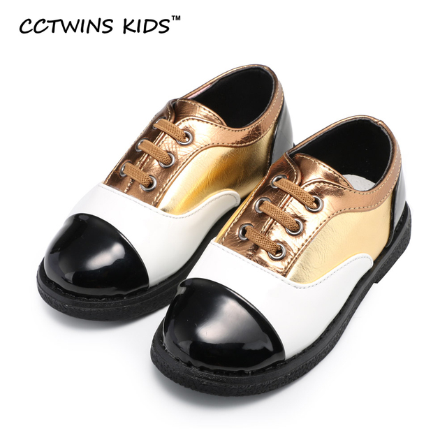CCTWINS KIDS spring autumn children fashion gold shoe baby girl brand casual shoe for toddler boy pu leather flats pink