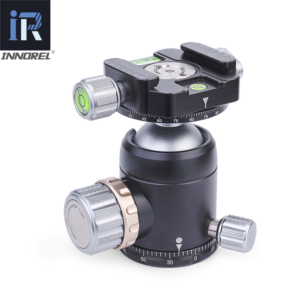 Image 3 - INNOREL U36 panoramic tripod & monopod ball head with quick release plate for 720 degree shooting bearing 20KG for Nikon Canon-in Tripod Heads from Consumer Electronics